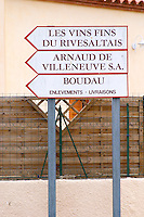 Arnaud de Villeneuve. Rivesaltes town, Roussillon, France