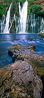 920000011 panoramic view of burney falls the main waterfall in mcarthur burney state park in northern california