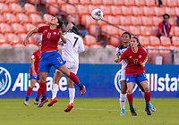 HOUSTON, TX - JANUARY 28: Raquel Rodriguez #11 of Costa Rica heads the ball backwards during a game between Costa Rica and Panama at BBVA Stadium on January 28, 2020 in Houston, Texas.
