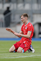 6th June 2021, Stade Josy Barthel, Luxemburg; International football friendly Luxemburg versus Scotland;  Enes Mahmutovic Luxembourg is disappointed after conceding a goal