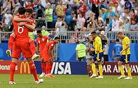SAMARA - RUSIA, 07-07-2018: Jugadores de Inglaterra celebran después del partido de cuartos de final entre Suecia y Inglaterra por la Copa Mundial de la FIFA Rusia 2018 jugado en el estadio Samara Arena en Samara, Rusia. / Players of England celebrate after the match between Sweden and England of quarter final for the FIFA World Cup Russia 2018 played at Samara Arena stadium in Samara, Russia. Photo: VizzorImage / Julian Medina / Cont