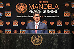 Opening Plenary Meeting of the Nelson Mandela Peace Summit<br /> <br /> Handoras