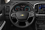 Car pictures of steering wheel view of a 2021 Chevrolet Colorado ZR2 4 Door Pick-up Steering Wheel