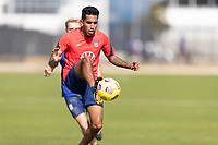 BRADENTON, FL - JANUARY 23: Jesus Ferreira battle for a ball during a training session at IMG Academy on January 23, 2021 in Bradenton, Florida.