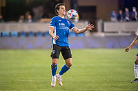SAN JOSE, CA - MAY 01: Carlos Fierro #7 of the San Jose Earthquakes controls the ball during a game between San Jose Earthquakes and D.C. United at PayPal Park on May 01, 2021 in San Jose, California.