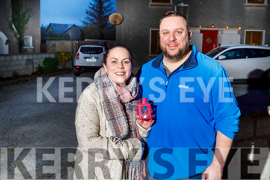 Clodagh Fleming and Keith Lynch from St Brendans Park who observed the Shine Your Light for our healthcare and essential workers at 9pm on Saturday night.