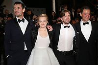 CLAES BANG, ELISABETH MOSS, DIRECTOR RUBEN OSTLUND AND DOMINIC WEST - RED CARPET OF THE FILM 'THE SQUARE' AT THE 70TH FESTIVAL OF CANNES 2017