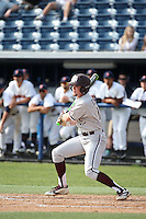 Nick Choruby (18) of the Texas A&M Aggies bats against the Pepperdine Waves at Eddy D. Field Stadium on February 26, 2016 in Malibu, California. Pepperdine defeated Texas A&M, 7-5. (Larry Goren/Four Seam Images)
