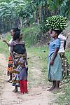 Woman Carrying Bananas