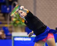 13-12-12, Rotterdam, Tennis Masters 2012, Arantxa Rus verliest de eerste set van Quirine Lemoine13-12-12, Rotterdam, Tennis Masters 2012, Arantxa Rus  Quirine Lemoine