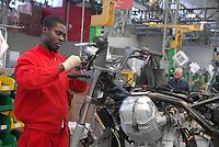 - Motoguzzi motorcycle factory<br /> <br /> - fabbrica di motociclette Moto Guzzi