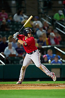 Worcester Red Sox Tate Matheny (35) bats during a game against the Rochester Red Wings on September 3, 2021 at Frontier Field in Rochester, New York.  (Mike Janes/Four Seam Images)