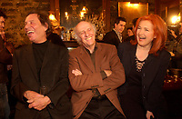 Gilles Vignault (R)  Jean Pierre Ferland (L) Lancement d'album - Album Launch<br /> Jean Pierre Ferland, 2001 file photo<br /> <br /> photo : Roussel - AQP