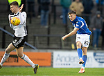Ayr United v St Johnstone…..08.02.20   Somerset Park   Scottish Cup 5th Round<br />Callum Hendry shoots for goal<br />Picture by Graeme Hart.<br />Copyright Perthshire Picture Agency<br />Tel: 01738 623350  Mobile: 07990 594431
