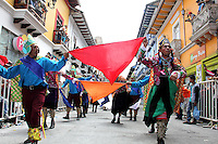 PASTO -COLOMBIA, 04-01-2017: Aspect of La Familia Castañeda parade of the Blacks and Whites' Carnival 2017 which is held between 2 and 7 of January 2017 at Pasto, Colombia. Photo: VizzorImage / Leonardo Castro / Cont