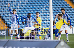 Kilmarnock v St Johnstone…30.01.21   Rugby Park   SPFL<br />Danny Roger can't prevent Murray Davidson from scoring to make it 2-2<br />Picture by Graeme Hart.<br />Copyright Perthshire Picture Agency<br />Tel: 01738 623350  Mobile: 07990 594431
