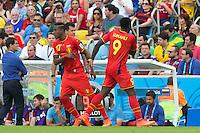 Romelu Lukaku of Belgium is replaced by Divock Origi
