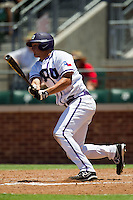 Outfielder Jerrick Suiter #31 of the Texas Christian University Horned Frogs at bat during the NCAA Regional baseball game against the Ole Miss Rebels on June 1, 2012 at Blue Bell Park in College Station, Texas. Ole Miss defeated TCU 6-2. (Andrew Woolley/Four Seam Images)