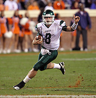 Oct 23, 2010; Charlottesville, VA, USA;  Eastern Michigan Eagles quarterback Alex Gillett (8) runs with the ball during the game against  the Virginia Cavaliers at Scott Stadium.  Virginia won 48-21. Mandatory Credit: Andrew Shurtleff