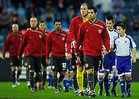 US Men's National Team walk onto the field. Slovakia defeated the US Men's National Team 1-0 at the Tehelne Pole in Bratislava, Slovakia on November 14th, 2009.