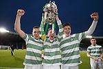 Goalscorers Mark Hill and Josh Kerr with Captain Regan Hendry (C)