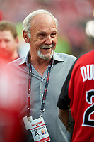 Jim Leyland during MLB All-Star Game Practice on July 13, 2015 at Great American Ball Park in Cincinnati, Ohio.  (Mike Janes/Four Seam Images)