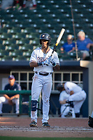 Northwest Arkansas Naturals outfielder Nick Heath (2) steps to the plate during a Texas League game between the Northwest Arkansas Naturals and the Arkansas Travelers on May 30, 2019 at Arvest Ballpark in Springdale, Arkansas. (Jason Ivester/Four Seam Images)