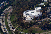 aerial photograph of the San Diego, Air & Space Museum, Balboa Park, San Diego, California