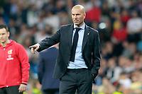 Real Madrid's coach Zinedine Zidane during La Liga match. April 18,2018.  *** Local Caption *** © pixathlon<br /> Contact: +49-40-22 63 02 60 , info@pixathlon.de