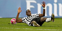 Calcio, Serie A: Milan vs Juventus. Milano, stadio San Siro, 9 aprile 2016. <br /> Juventus' Paul Pogba reacts during the Italian Serie A football match between AC Milan and Juventus at Milan's San Siro stadium, 9 April 2016.<br /> UPDATE IMAGES PRESS/Isabella Bonotto
