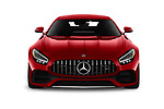 Car photography straight front view of a 2020 Mercedes Benz AMG-GT - 3 Door Coupe Front View