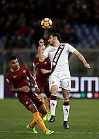 Calcio, Serie A: Roma, stadio Olimpico, 19 febbraio 2017.<br /> Torino Davide Zappacosta (r) in action with Roma's Emerson Palmieri (l) during the Italian Serie A football match between As Roma and Torino at Rome's Olympic stadium, on February 19, 2017.<br /> UPDATE IMAGES PRESS/Isabella Bonotto