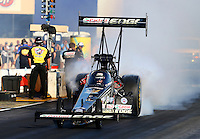 Jul. 26, 2013; Sonoma, CA, USA: NHRA top fuel dragster driver Brittany Force during qualifying for the Sonoma Nationals at Sonoma Raceway. Mandatory Credit: Mark J. Rebilas-