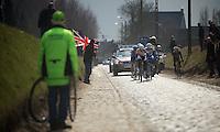 Ronde van Vlaanderen 2013..Holleweg race leader: Tosh Van der Sande (BEL)