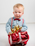 WATERBURY, CT-120218JS01- Christmas Kids-18-month-old Hunter Luthy of Harwinton. <br /> Jim Shannon Republican American