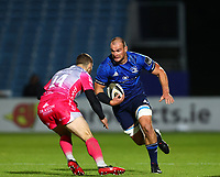 2nd October 2020; RDS Arena, Dublin, Leinster, Ireland; Guinness Pro 14 Rugby, Leinster versus Dragons; Rhys Ruddock (Leinster) charges towards contact with Jonah Holmes (Dragons)