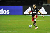 WASHINGTON, DC - SEPTEMBER 27: Steven Birnbaum #15 of D.C. United moves the ball during a game between New England Revolution and D.C. United at Audi Field on September 27, 2020 in Washington, DC.