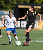 19 July 2009: Erika of FC Gold Pride in action during the game against Boston Breakers at Buck Shaw Stadium in Santa Clara, California.   Boston Breakers defeated FC Gold Pride, 1-0.