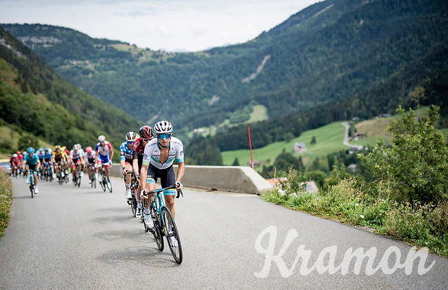 Alexey Lutsenko (KAZ/Astana) racing in the French Alps<br /> <br /> Stage 5: Megève to Megève (154km)<br /> 72st Critérium du Dauphiné 2020 (2.UWT)<br /> <br /> ©kramon