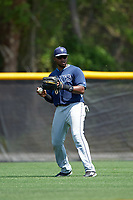 Tampa Bay Rays Manny Sanchez (32) during a minor league Spring Training intrasquad game on April 1, 2016 at Charlotte Sports Park in Port Charlotte, Florida.  (Mike Janes/Four Seam Images)