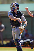 Northwestern Wildcats catcher Jack Claeys (44) during a game against the Illinois State Redbirds on March 6, 2016 at North Charlotte Regional Park in Port Charlotte, Florida.  Illinois State defeated Northwestern 10-4.  (Mike Janes/Four Seam Images)