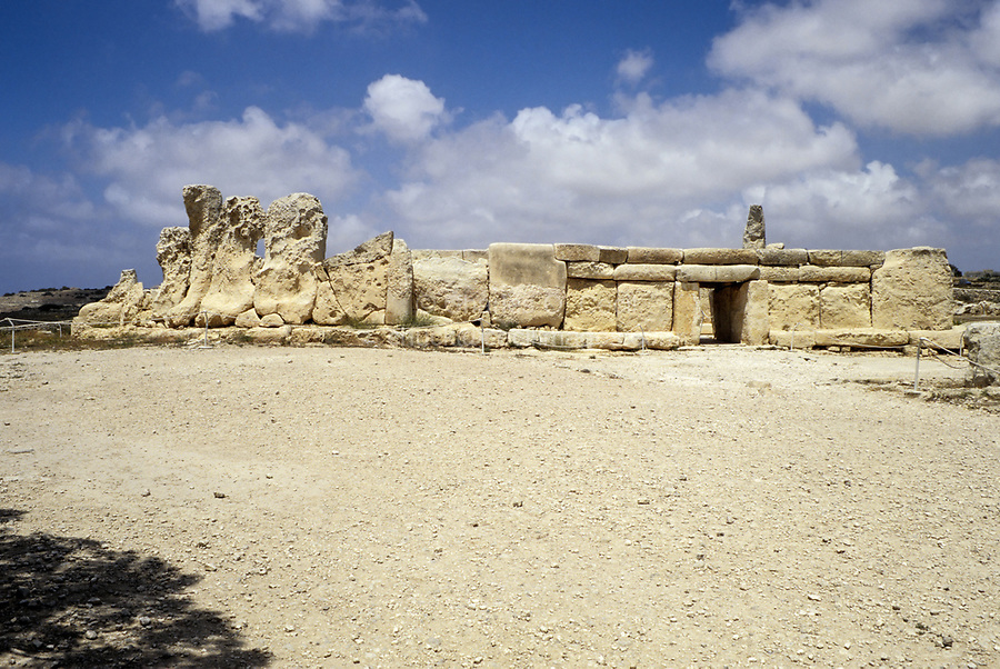 Near Qrendi, Malta.  Hagar Qim Neolithic Temple, 3600 BC.  The stone temples of Malta are the oldest stone constructions in the world, pre-dating the Egyptian pyramids and Stonehenge by as much as a thousand years.