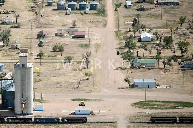 Western Kansas farm town (unknown). May 2014. 83917