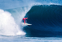 Jeremy Byles (AUS) during the running of the Billabong Pro Am which was held at the  Mundaka river-mouth during an epic swell in November 1989. Mundaka, Basque Country, Spain. Byles won the event in 1989 and again in 2000 Photo: joliphotos.com