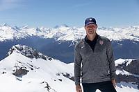 CRANS-MONTANA, SWITZERLAND - MAY 28: Brian McBride of the United States at Pointe de la Plaine Morte on May 28, 2021 in Crans-Montana, Switzerland.