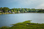 Duck Creek and the town of Wellfleet, Cape Cod, MA, USA