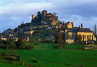 Dordogne, Perigord, France, Limousin, Turenne, Correze, Europe, Scenic view of the medieval village of Turenne.