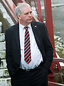 DUNFERMLINE CHAIRMAN JOHN YORKSTON CAN'T BELIEVE REFEREE BOBBY MADDEN CALLED THE GAME OFF.