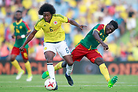 Colombia's Carlos Sanchez (l) and Cameroon's Robert Ndip Tambe during international friendly match. June 13,2017.(ALTERPHOTOS/Acero) (NortePhoto.com) (NortePhoto.com)