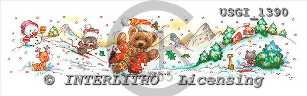 GIORDANO, CHRISTMAS ANIMALS, WEIHNACHTEN TIERE, NAVIDAD ANIMALES, Teddies, paintings+++++,USGI1390,#XA#